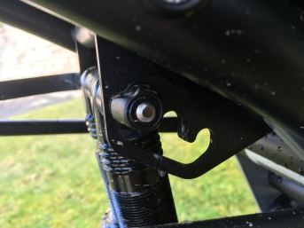 Suspension geometry and reat seat adjustment