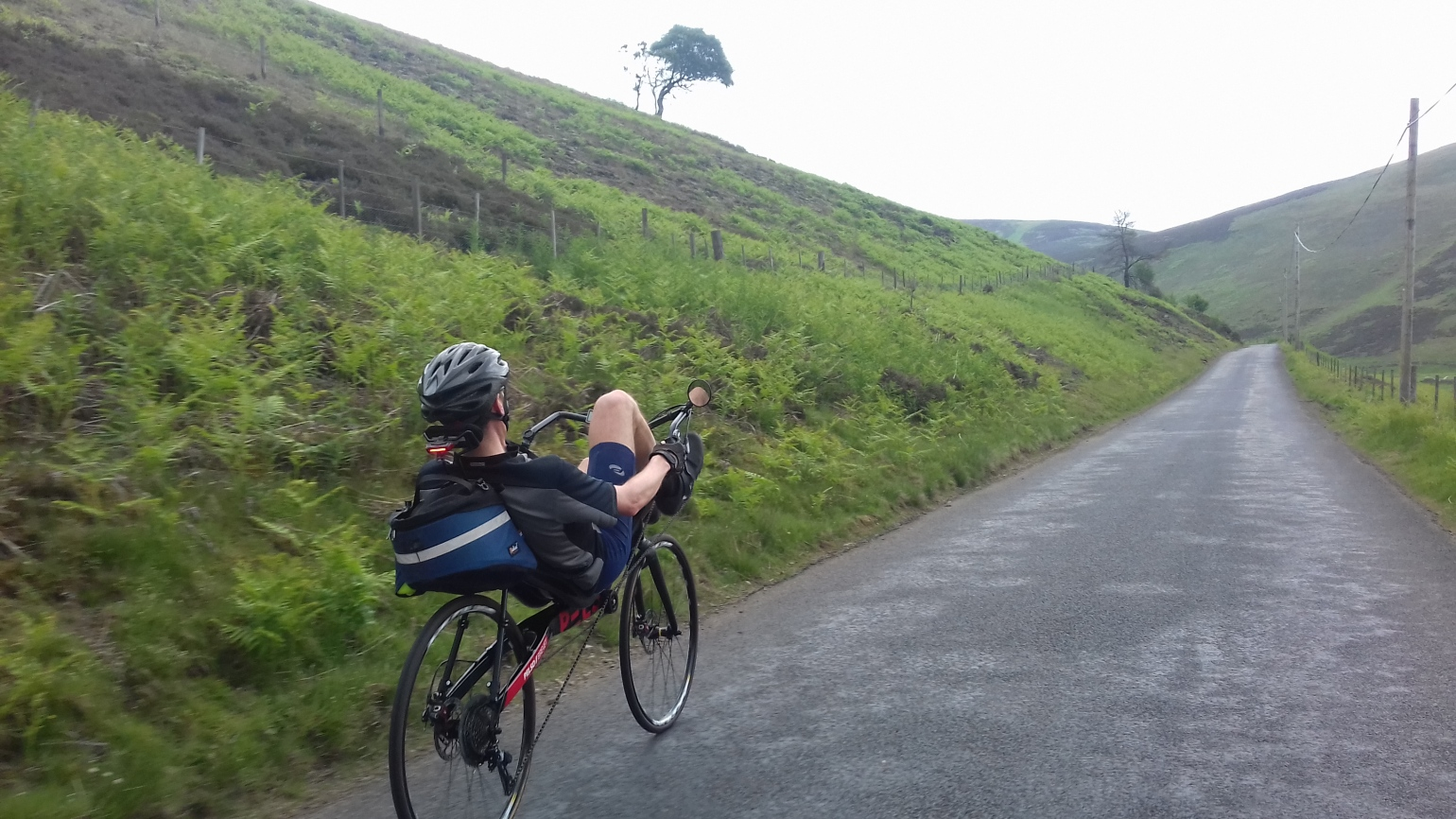 Riding down from the granites