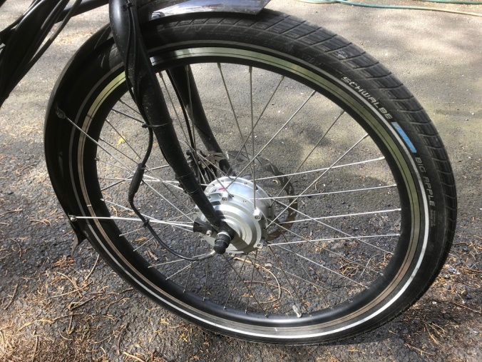 Front wheel cabling